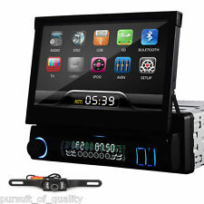 Single 1 Din LCD Car CD DVD Player In Dash Car Stereo Radio Touch Screen+Camera