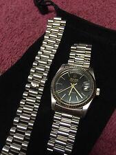 BULOVA SUPER SEVILLE DAY & DATE AUTOMATIC BLACK DIAL SWISS MADE