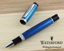 Waterford Kilbarry Guilloche Blue Rollerball Pen WF453GBL