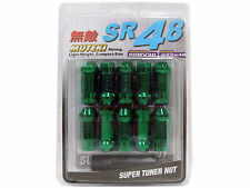 MUTEKI SR48 20PCS EXTENDED WHEELS TUNER LUG NUTS (OPEN END/12X1.5/GREEN)