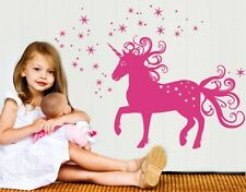 Magical Unicorn Wall Decal, sticker, mural, vinyl wall art