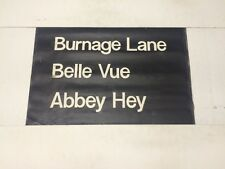 """Manchester Linen Bus Blind May 1976 (24"""") Burnage Lane Belle Vue Abbey Hey"""