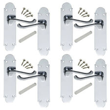 4 Pack of Epsom Internal Door handles in Polished Chrome. 168x42mm