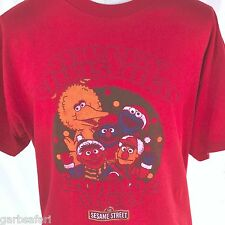 Merry Christmas From The Sesame Street Red Retro T-shirt XL Big Bird Ernie Bert