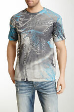 NEW AFFLICTION SHADOW WEAVER SHORT SLEEVE TEE T-SHIRT SZ L LARGE