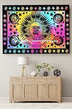 Psychedelic Hippie Large Sun Moon Tapestries Indian Wall Hanging Tie & Dye Throw