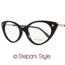 Tom Ford Cateye Eyeglasses TF5189 001 Size: 54mm Shiny Black FT5189