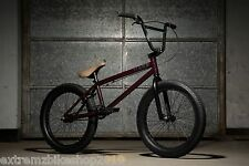 2017 KINK CURB - COMPLETE BMX BIKE - COMPLETE BMX BICYCLE - MATTE DARK PLUM