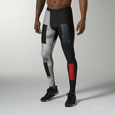 NEW Men's Reebok Crossfit Compression Tights Black/Gray/Red Al1374 Size MEDIUM