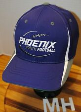 """PHOENIX NORTH FOOTBALL"" HAT. PURPLE WITH EMBROIDERED GRAPHICS AND LETTERS. L/XL"