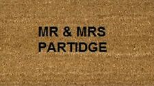 Stencilled Coir Door Mat 70 x 40 Mr & Mrs Married Personalised Wedding Gift