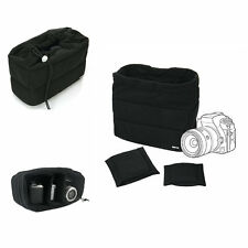 Black Shockproof DSLR SLR Camera Bag Partition Padded Insert Protection Case New