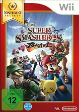 Nintendo Wii Spiel: Super Smash Bros. Brawl Wii SELECTS Pal Version Neu & OVP
