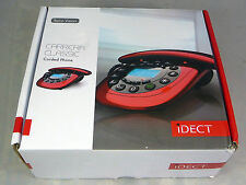 iDECT Carrera Classic Red Corded Home Telephone Phone Handsfree Speakerphone