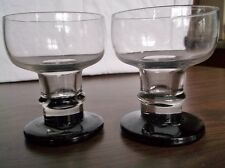 Two Swedish CRYSTAL Goblets, Dark Weighted Bases