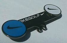 Brand New Double Nike Gun Metal Blue/White Golf Ball marker with hat clip!!