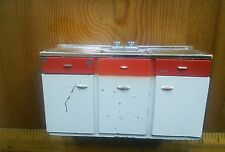 Vintage dolls house TRI-ANG cast metal JENNYS HOME kitchen sink 1960's 1/16th