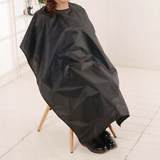 Waterproof Salon Barber Gown Cape Hairdresser Hair Cut Cutting Cloth Apron Black