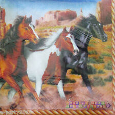 RUNNING HORSES LUNCH NAPKINS (16) ~ Animals Birthday Party Supplies Dinner Large