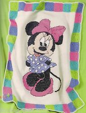 Disney mickey minnie afghans to crochet pattern leaflet, see pics   LA3317