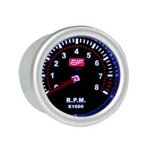 "2"" 52mm silver Car smoke Tacho Gauges Meters tinted shell 0~8(X1000) RPM"