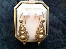 Juicy Couture New Gold Plated Ethnic Style Drop Earrings (Pierced) In Box