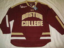 Boston College Men's Large Burgundy Under Armour Replica Hockey Jersey