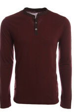 BANANA REPUBLIC NEW Burgandy 3079 Long Sleeve Henley Mens Casual Top M