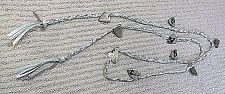 Disney Camp Rock Braided Ribbon/Chain Open End Necklace With Guitar Pick Charms