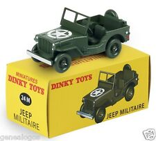 DINKY TOYS ATLAS CITROEN JEEP WILLYS US ARMY 1/43 REF 24 M BOX NOEL 2015