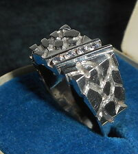 VINTAGE! GERMAN GOTHIC STERLING SILVER RING with ZIRCONIUM