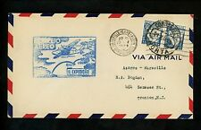US Postal History Airmail FAM 18 Horta Azores Portugal to Marseilles France 1939