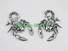 Motorcycle Fairing Chrome Metal 3D Scorpion 3M Decal Stickers Tank Emblem Badge