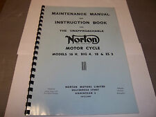 NORTON BIG 4 MODEL 18 ES2 16H 1947-54 MAINTAINANCE & INSTUCTION BOOK NOW05