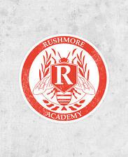 Rushmore Academy Crest Sticker Jason Schwartzman Max Fischer Bill Muray laptop