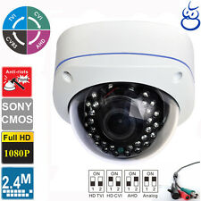HD TVI 1080P 2.4MP Sony CMOS Vandal Proof  Varifocal 2.8-12mm Dome camera 4 in 1