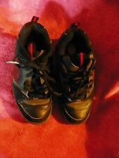 HEELY'S LACE UP SKATE SHOES SNEAKERS STYLE # 7177 BLACK RED YOUTH SIZE 4