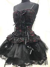 SDL Cosplay Gothic BLK Swan triturati abito nero/rosso nella taglia 10/12