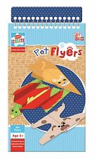 Create Your Own Pet Flyers Paper Planes Aeroplane Glider Animals Book Kit PPLN