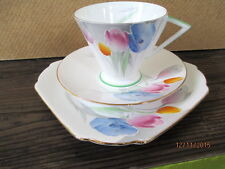 Vintage / Art Deco China Tea Set Trio.Shelley Eve.Tulip.096.British.