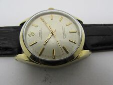Vintage Rolex Oyster Perpetual  14K Gold Cap Ref:1024  Mens Watch