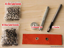 8MM Grommets Installation Setting Tool Kit Set + Leather Hole Punch +80 Eyelet