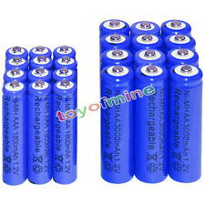 12 AA 3000mAh + 12 AAA 1800mAh battery Bulk Nickel Hydride Rechargeable 1.2V Blu
