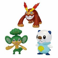 Pokemon Black White 3 Pack Action Figure Oshawott Darmanitan Pansage Collectable