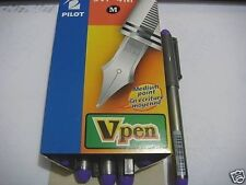 Pilot Vpen Fountain Pens Medium point  4 pcs in BLUEink