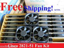 Cisco 2821 Router Replacement Fan Kit  (3 New Fans) ACS-2821-51-FANS=Delta/Sunon