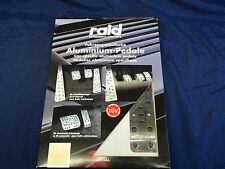 RAID MANUAL SPORTS PEDAL SET AUDI A4 B5 POLISHED CHROME ALUMINIUM