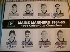MAINE MARINERS HAND SIGNED AUTO AUTOGRAPH HOCKEY 8.5 X 11 PHOTO DANEYKO ++++++