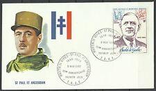 Taaf Fsat Mort Charles De Gaulle Death St Paul Amsterdam ** 1980 1er Jour Fdc