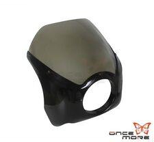 Motorcycle Smoked ABS Plastic Wide Glide Fairing Drag Racing Fit For Harley